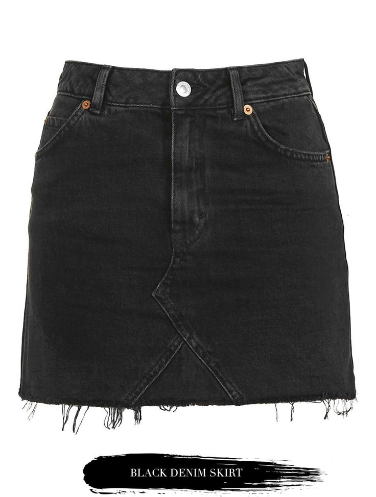 the 25 best black denim skirt ideas on black