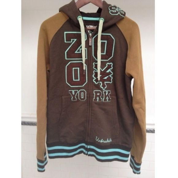 Zoo York Hoodie Brown, tan, and mint green Zoo York hoodie in a men's small. I've had it for many years but never ended up wearing it. Would look great with a pair of timbs! Zoo York Sweaters Zip Up