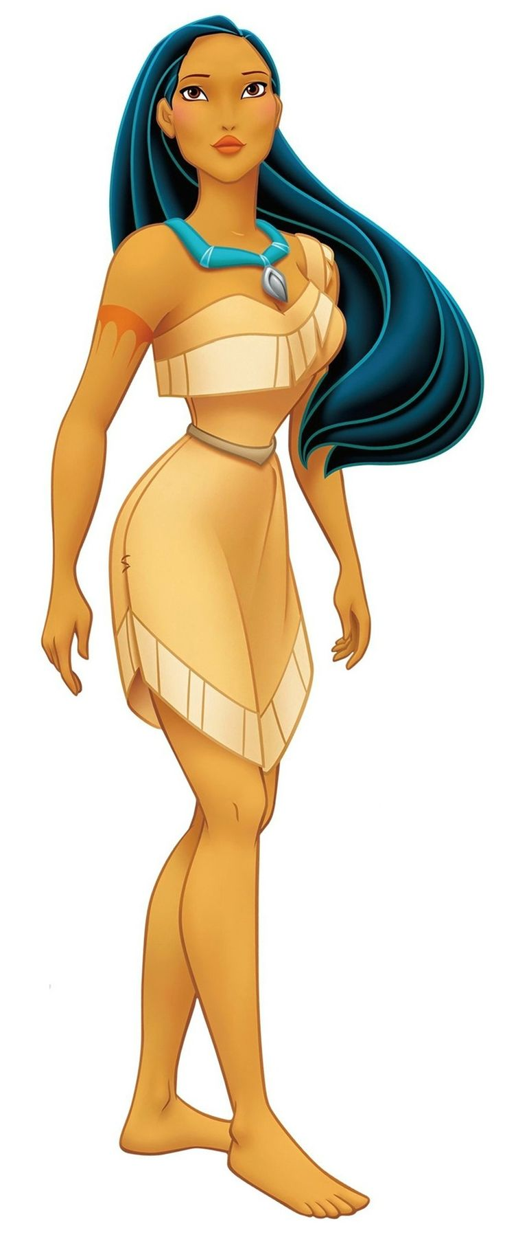 Past - Disney's Pocahontas is loosely based on the real-life Native American princess whose name was Matoaka (Pocahontas was her nickname and meant 'Little Mischief'). She falls in love with a man named John Smith, who helps her prevent a war from commencing between their people. (JaDangerz, 2010)