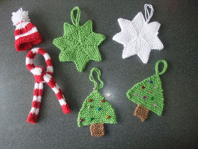 Knit Ornaments Christmas Crafts Holiday Crochet
