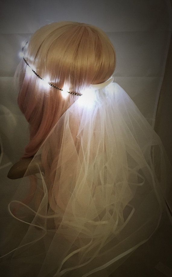 Bridal Veil LED Crown perfect for bachelorette parties by NeonGear