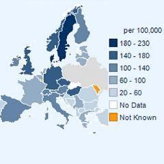 Carte du monde de la sclérose en plaques (Atlas 2013) | Psychomédia