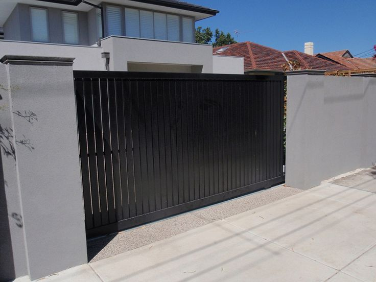 7 best outside gate door images on pinterest fence gates for Minimalist house gate