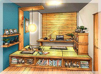 Tatami floor room