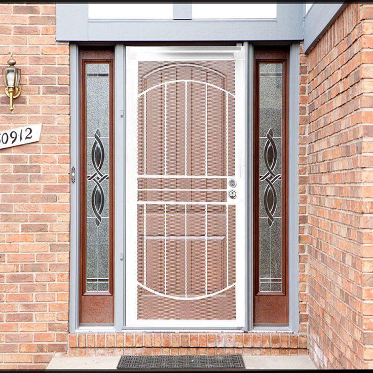 Grisham 36 in. x 80 in. 805 Series White Defender Security Door-80522 - The Home Depot