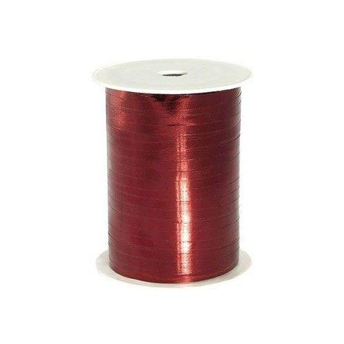 Wstążka metalizowana - 0,5 cm x 225 m - Bordowa