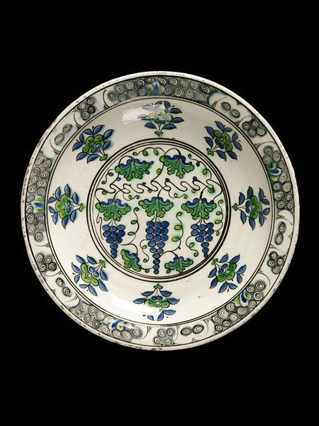 Dish      Place of origin:      Iznik, Turkey (probably, made)     Turkey     Date:      ca. 1585-1600 (made)     Artist/Maker:  ...