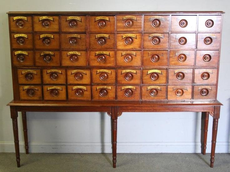 Antique Multi Drawer Apothecary Cabinet on Stand.