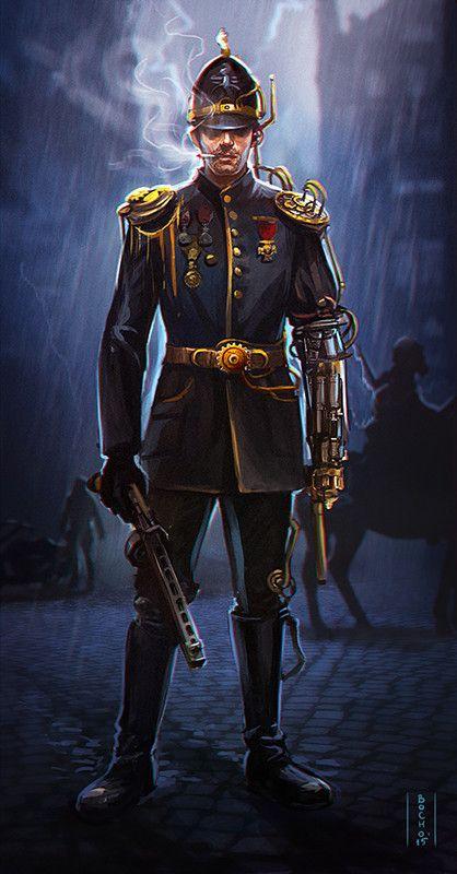ArtStation - Steampunk policeman, Dimitar Bochukov