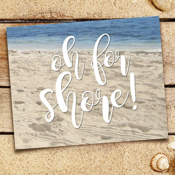 Oh For Shore Punny Digital 8x10 Printable Poster by ALittleLeafy