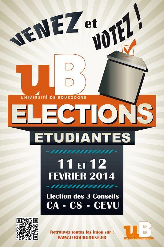 Élections étudiantes aux Conseils centraux de l'université de Bourgogne - Février 2014