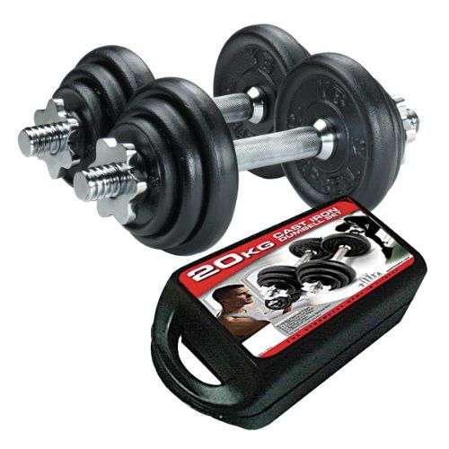 York 20kg Cast Iron Dumbbell Set and Case | Your #1 Source for Sporting Goods & Outdoor Equipment