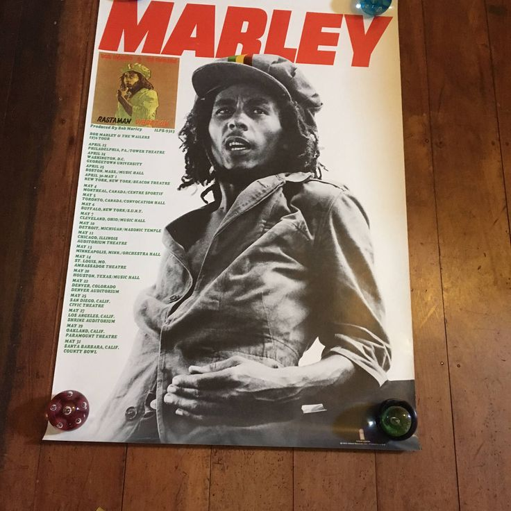 Bob Marley 1976 Tour Poster Island Records Original Rare Vintage Music Poster by RockPostersTreasures on Etsy