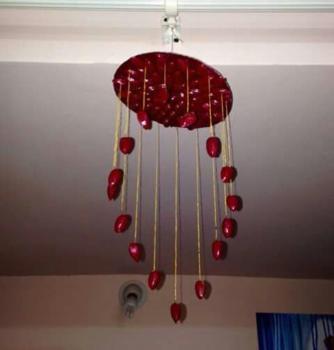 Hand made pista shell hanging....