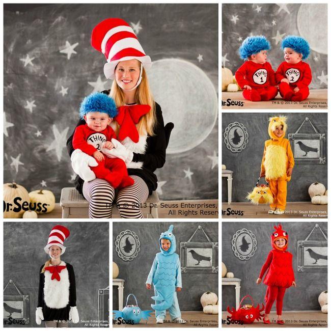 Family Halloween Costumes And Truffula Tree Treats Trees
