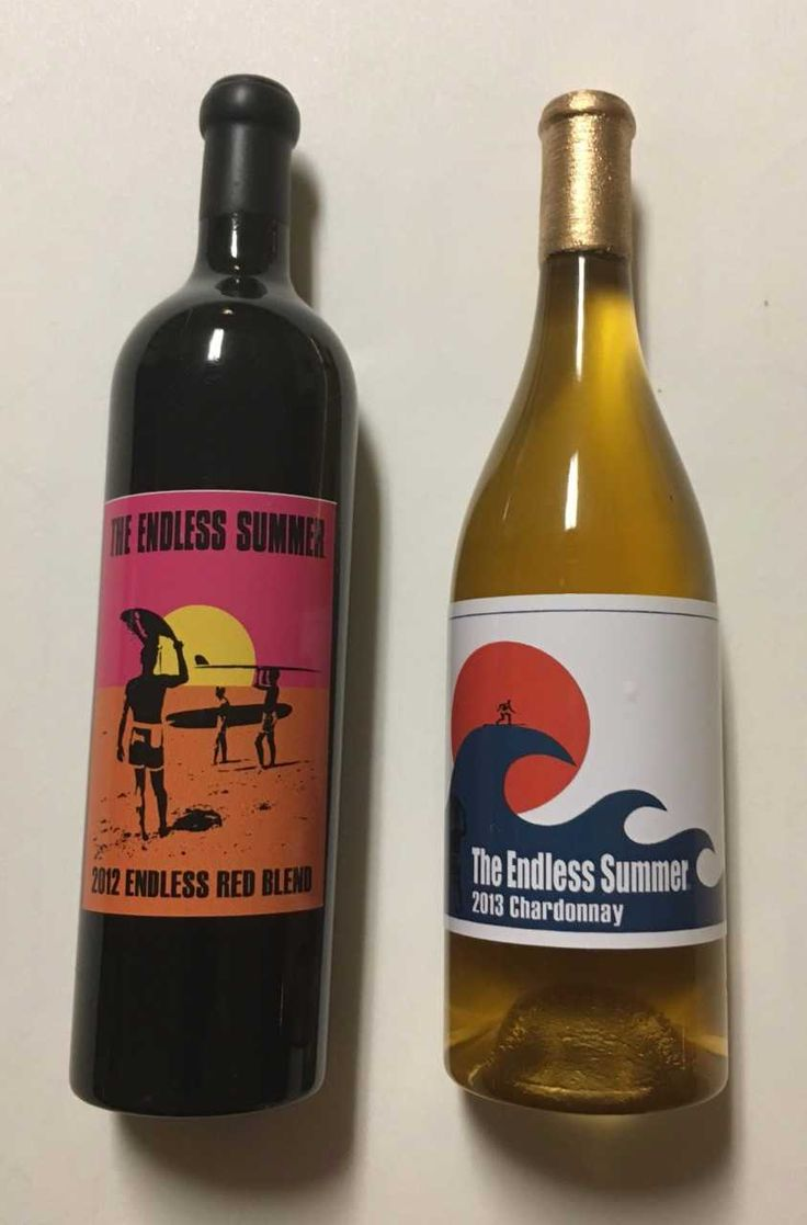 Iconic labels on these bottle magnets for Orange Coast Winery!
