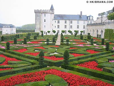The famous gardens of the Château de Villandry in France's Loire Valley