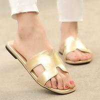 Большой размер 32-43 женщины шлепки 2015 новых летняя обувь квартиры открытым носком менее платформы пляжные сандалии женская обувь