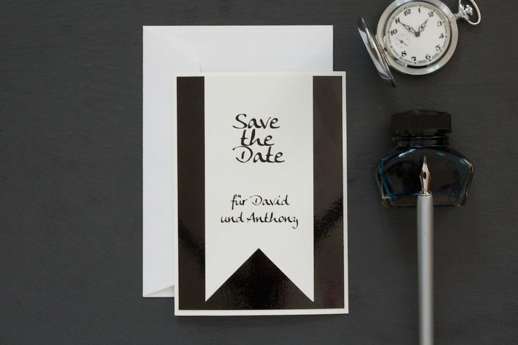 The perfect Save the Date card for gentlemen | lucyvanbarnes.de