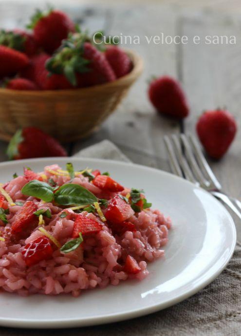 Risotto alle Fragole, Limone e Basilico - Cucina Veloce e Sana