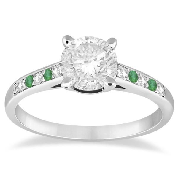 Design your own three-stone bridal side stone accented emerald and diamond  engagement ring in Yellow Gold. Shop online this colored gemstone cathedral  ring ...