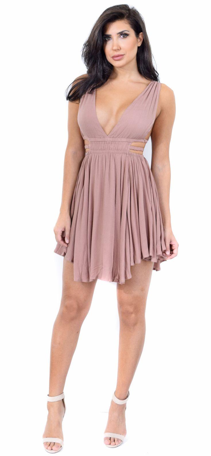 Boutique measurement chart V Neck Half Sleeve Striped Maxi Dress light purple classy small