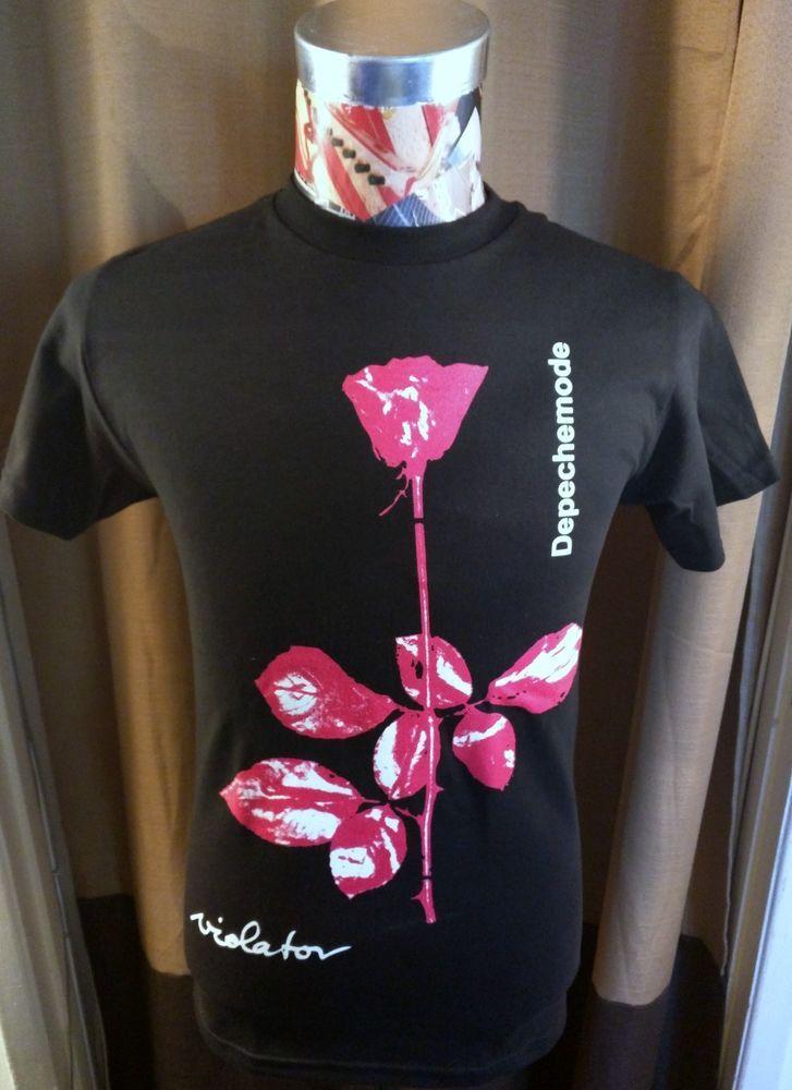 BRAND NEW DEPECHE MODE VIOLATOR RED ROSE EIGHTIES 80'S ALT ROCK BLACK T SHIRT | Clothing, Shoes & Accessories, Men's Clothing, T-Shirts | eBay!