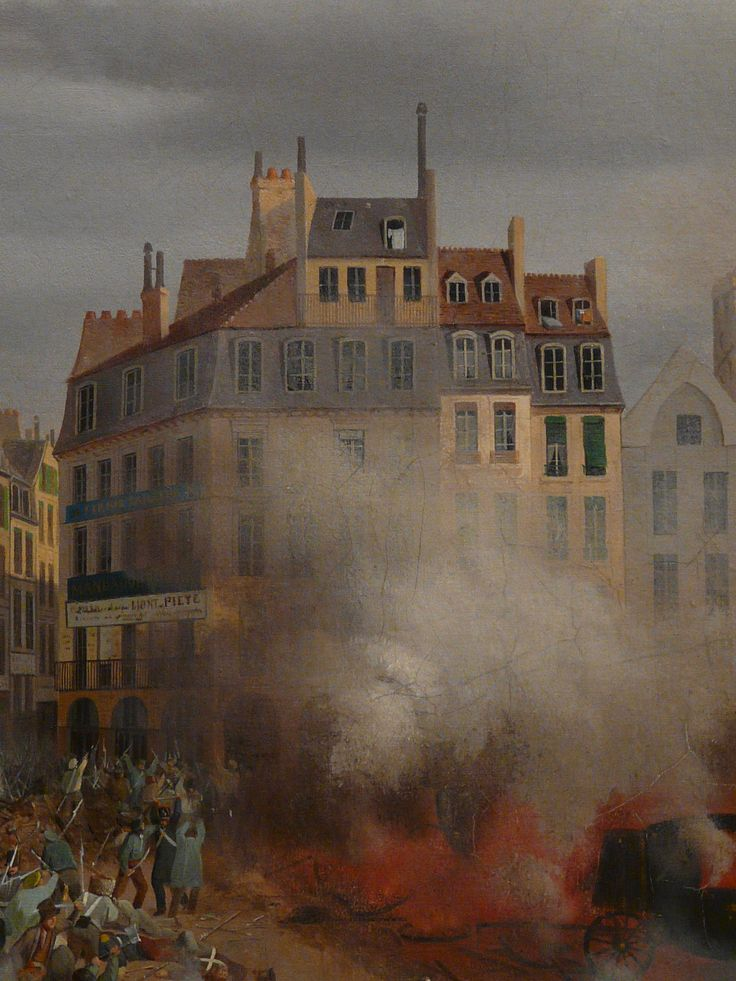 "HAGNAUER Eugène,1848 - Incendie du Château d'Eau, Place du Palais-Royal, le 24 février (Carnavalet) - Détail 16  -  TAGS / painter peintre details detail détails detalles painting paintings peinture ""peinture 19e"" ""19th-century paintings"" ""French paintings"" ""peinture française"" ""French painters"" ""peintres français"" tableaux Museum Paris France fire blaze death drame drama tragedy man men combat fight battle diligence coach town ville city Louis-Philippe abdication"