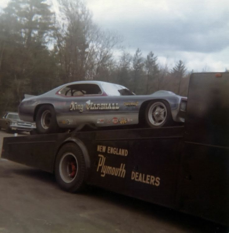 KING MARSHALL Plymouth Duster Funny Car On The Ramp Truck