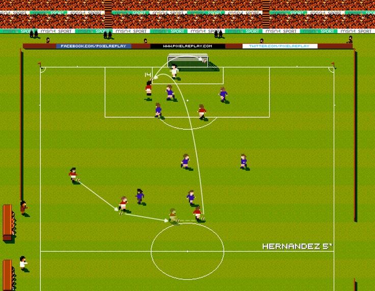 Javier Hernandez : Manchester United vs Chelsea 2013 - Pixel replay
