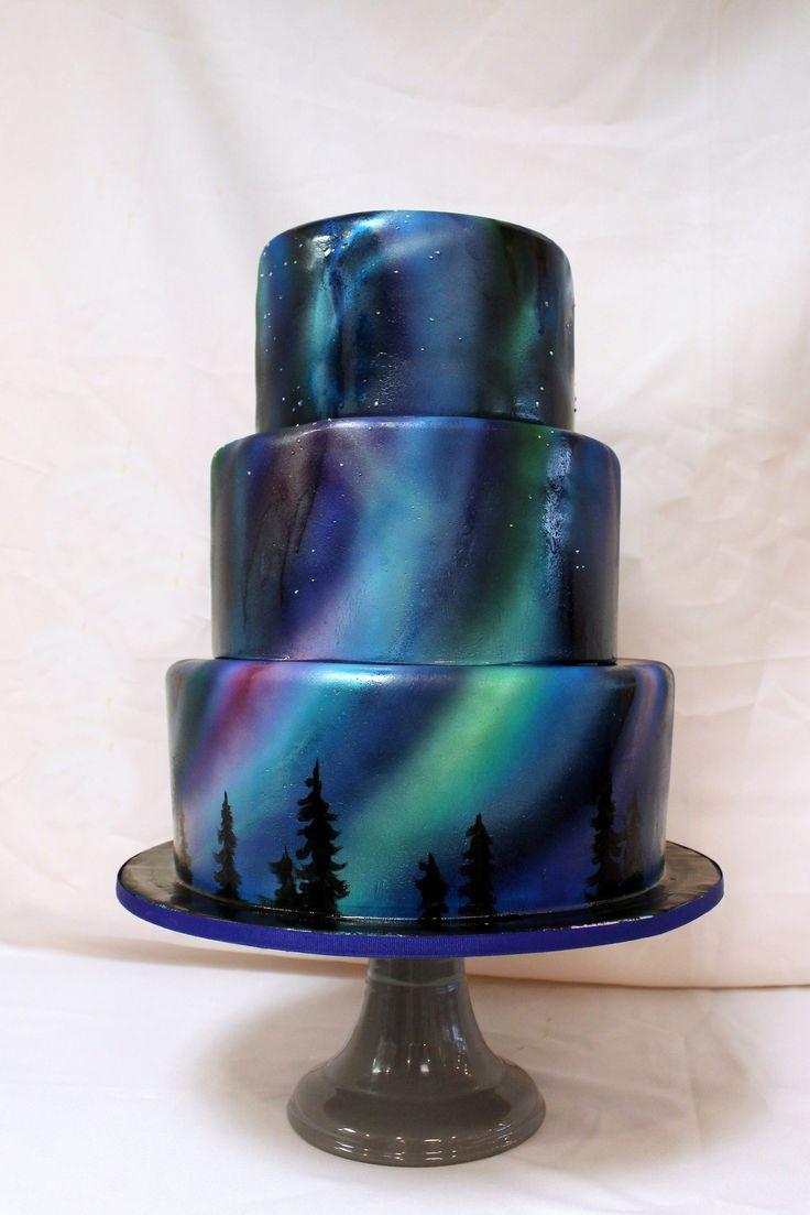 black nebula cake