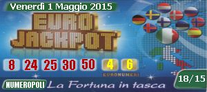 EuroJackpot,euro jackpot,estrazioni online 01-05-2015,Superenalotto europeo di oggi e quote e montepremi