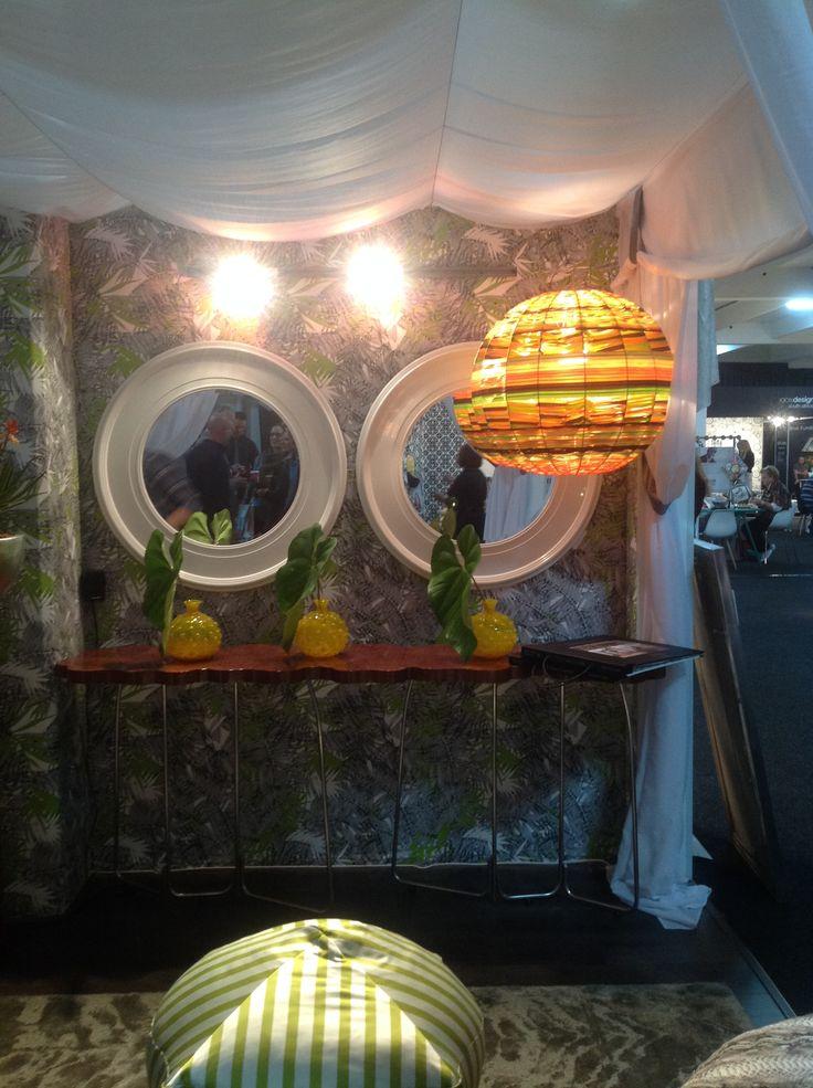 Karen Robert created a striking stand for Home Fabrics at 100% Design South Africa.