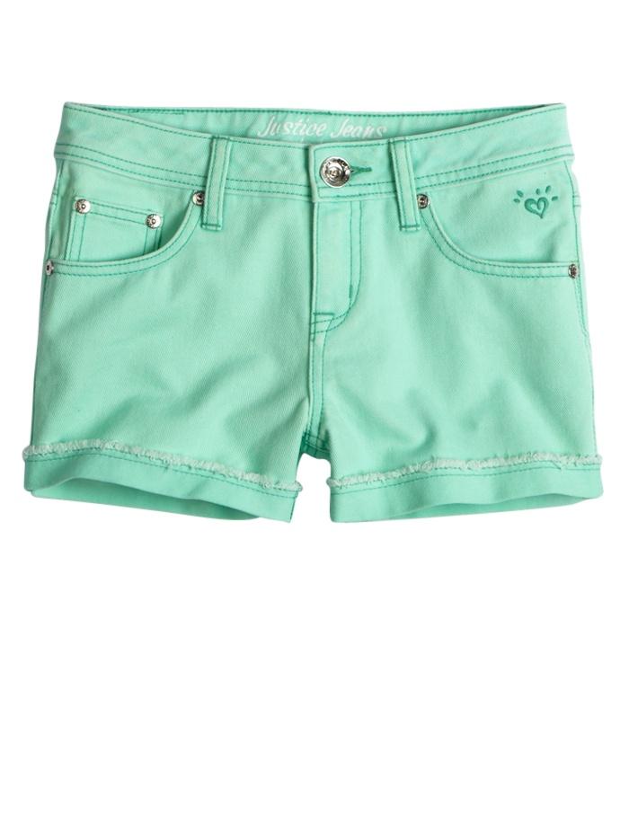 Color Denim Shorts | | Shop Justice