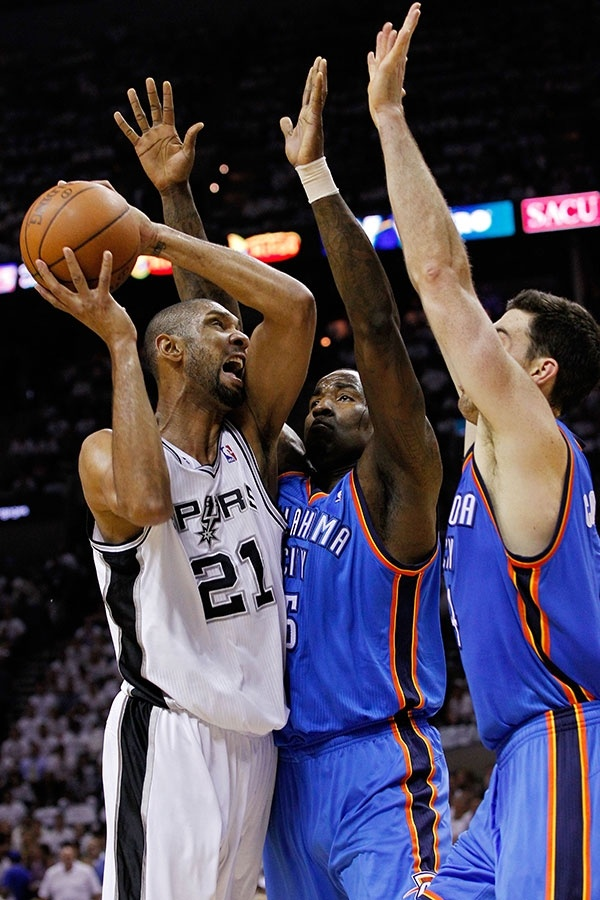 2 of our Bigs Kendrick Perkins & Nick Collison Thunder at Spurs: Game 5 - 6/4/2012 | THE OFFICIAL SITE OF THE OKLAHOMA CITY THUNDER