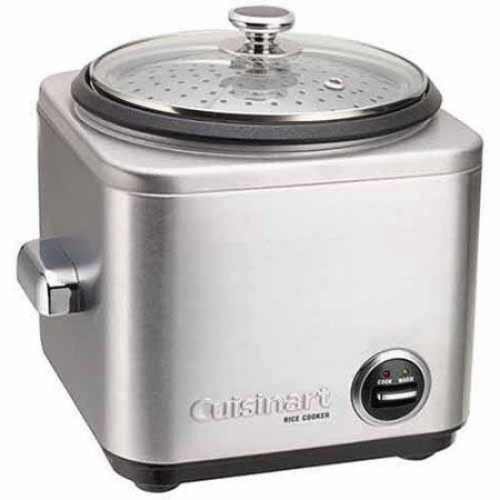 Cuisinart Rice Cooker 4-7 Cups CRC-400, Silver