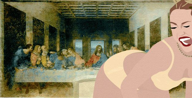 The Last Supper | Miley Cyrus Twerks On Famous Paintings