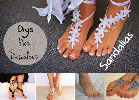 Como hacer 9 Sandalias para Pies Descalzos - enrHedando ...
