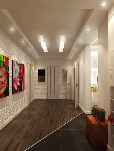 Foyer Decorating With Contemporary Ceiling Lighting Fixtures