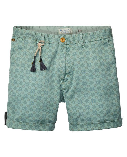 Chino-Shorts mit Allover Print | Kurze Hose | Herrenbekleidung von Scotch & Soda