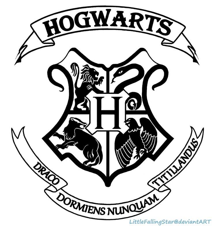 Hogwarts Crest by LittleFallingStar.deviantart.com on @deviantART