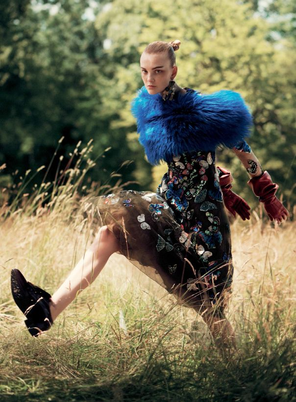 Caroline Trentini by David Sims for Vogue US September 2014