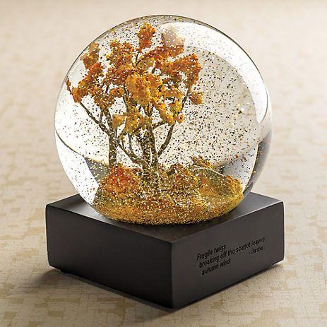 Autumn Trees Water Globe