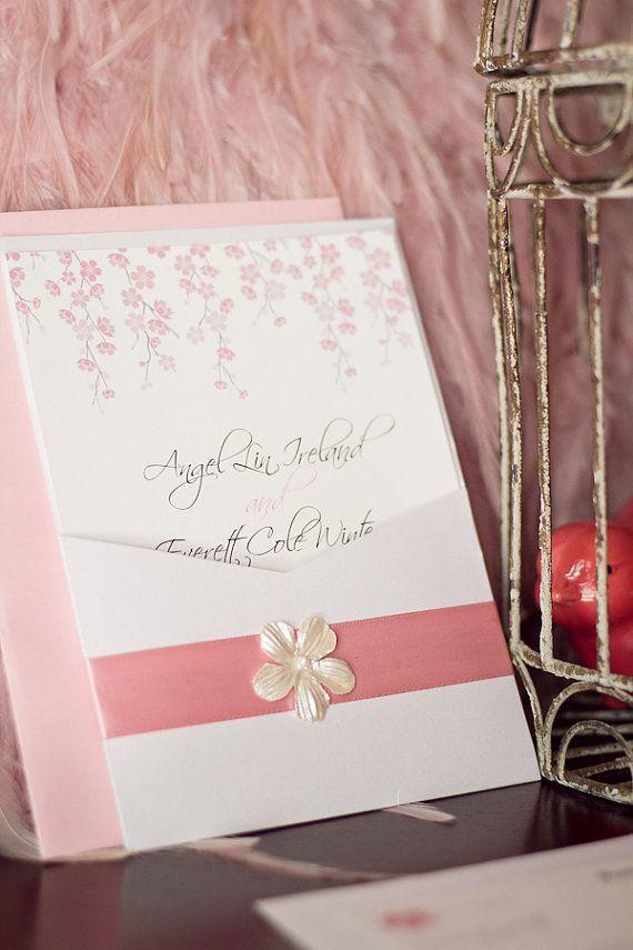 招待状も桜っぽく♡ 桜の時期の披露宴・二次会・1.5次会のアイデア☆