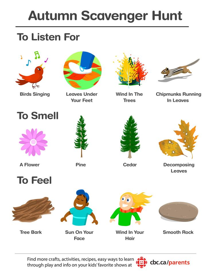 A colourful fall scavenger hunt--fun for all ages!