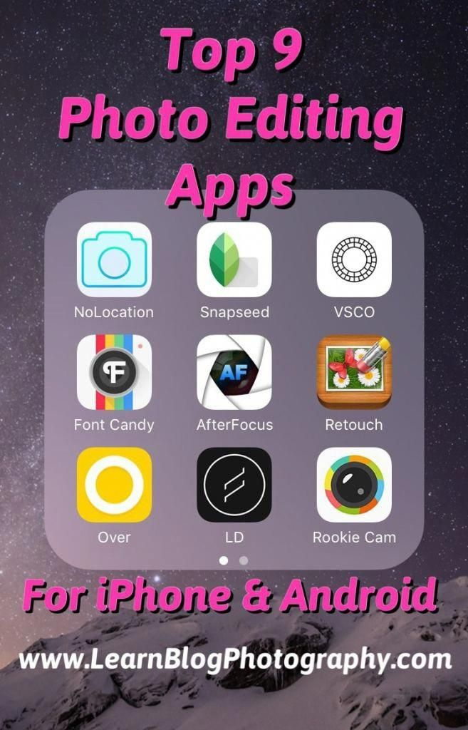 Top 9 photo editing apps for iPhone and Android #