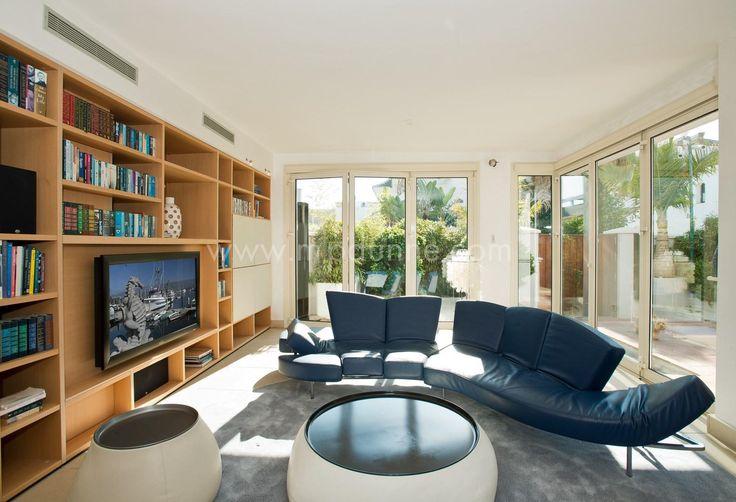 We love the decor of this chic #villa especially this stylish sofa :-) #unique http://www.mpdunne.com/en-MPV2776_villa-puente+romano-marbella+golden+mile.html