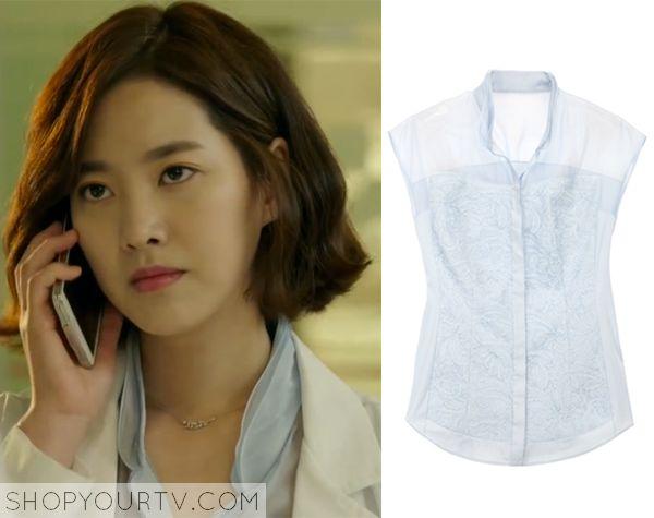 Doctor Stranger: Episode 7 Song Jae Hee's Light Blue Blouse - ShopYourTv