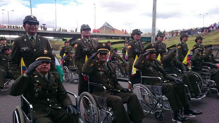 Uniformados heridos en cumplimiento de su deber. #SomosColombia #20DeJulio