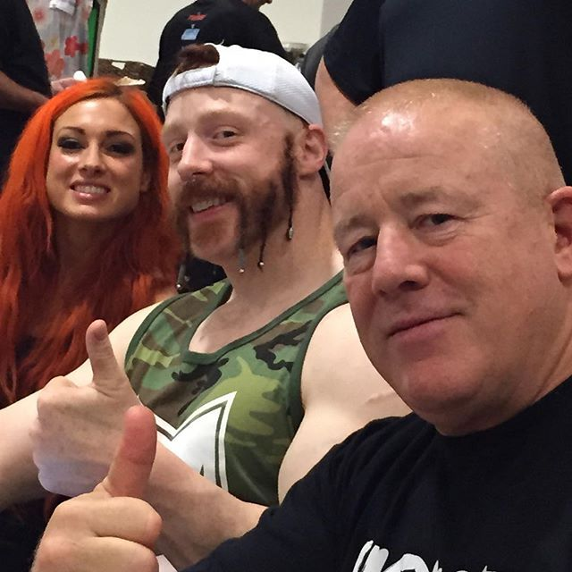 Becky Lynch and Sheamus and Finlay